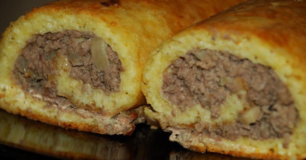 Ruladă de cașcaval cu carne tocată, un preparat perfect pentru orice ocazie!