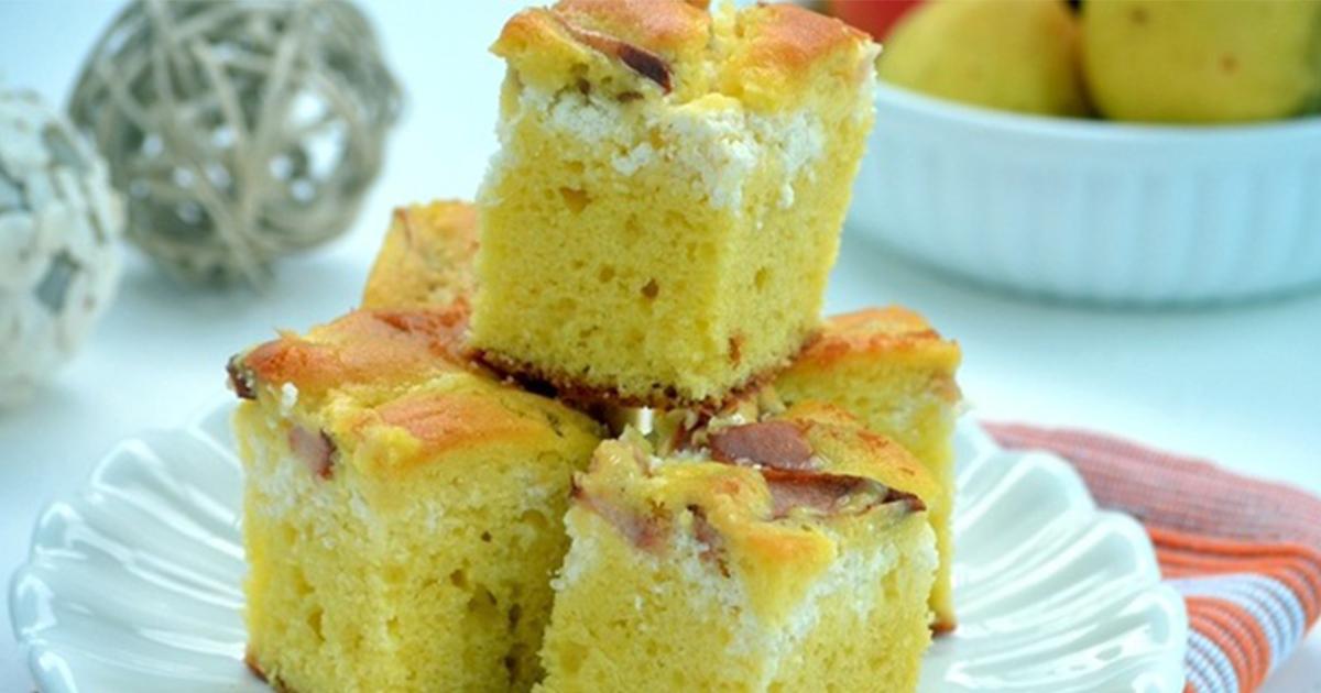 Cea mai simplă prăjitură de sezon cu pere