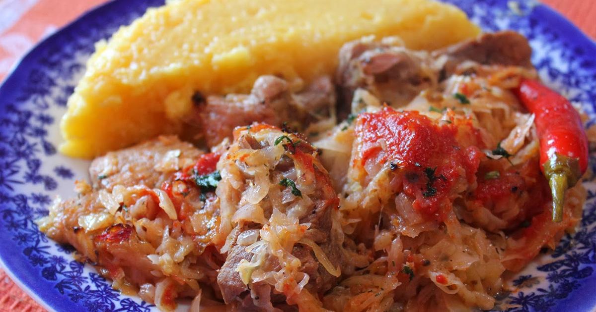 Varză nouă cu carne de porc la cuptor