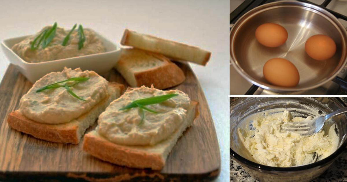 Pate din ouă, un mic dejun delicios, sănătos și simplu de pregătit