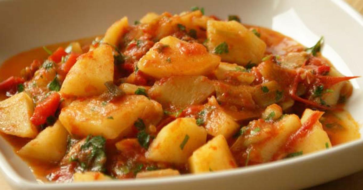 Mâncărică de cartofi cu ardei și pătrunjel