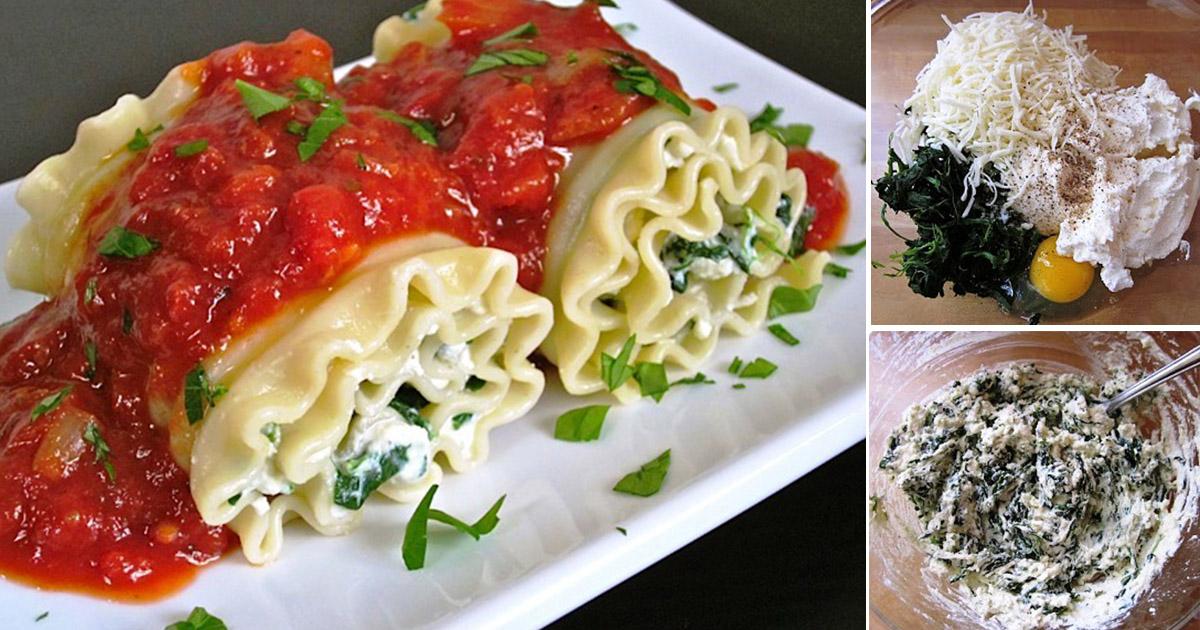 Lasagna cu spanac și brânză ricotta, un preparat excelent pentru orice moment