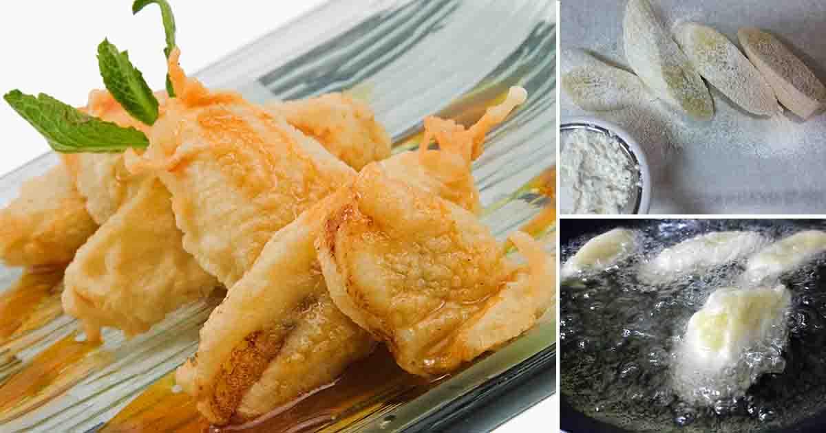 Banana tempura, desertul preferat al japonezilor. Este de post și are un gust extraordinar. Ți-o iau razna papilele gustative