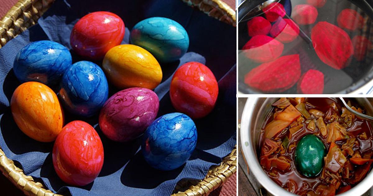 Cum vopsim ouăle de Paște cu ingrediente naturale pe care le avem în casă. Mult mai sănătos cu un aspect mai frumos decât cele cu coloranți artificiali