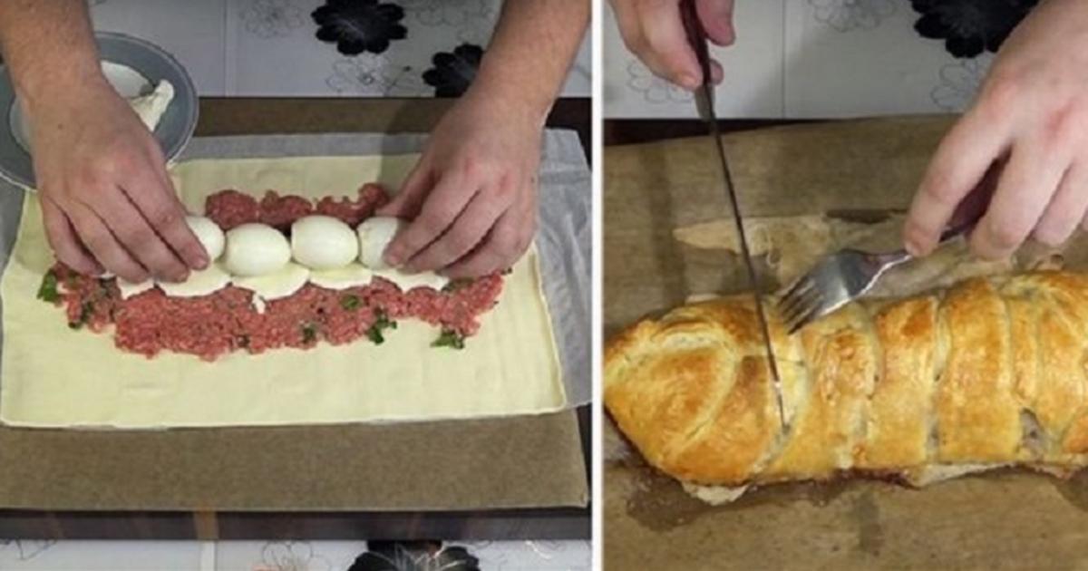 Rulada care va face furori de Paște. Cum se prepară această ruladă delicioasă cu carne și ouă
