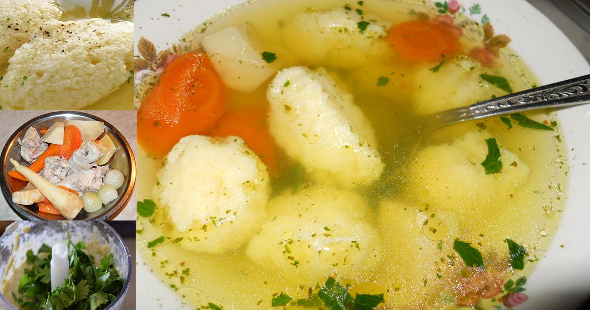 Supă de găluște după rețeta bunicii