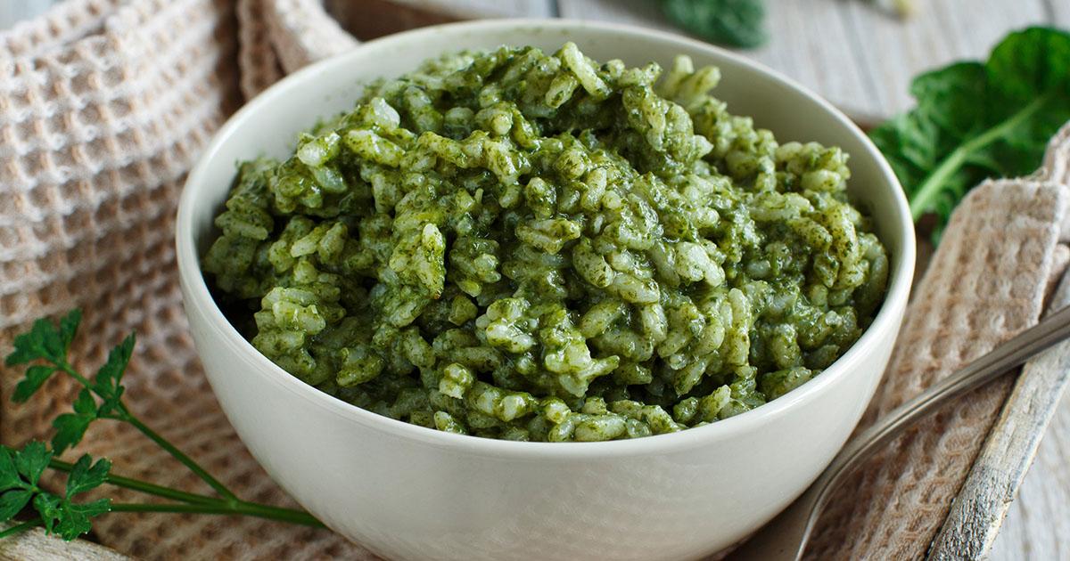 Spanac cu orez, un preparat delicios pentru post
