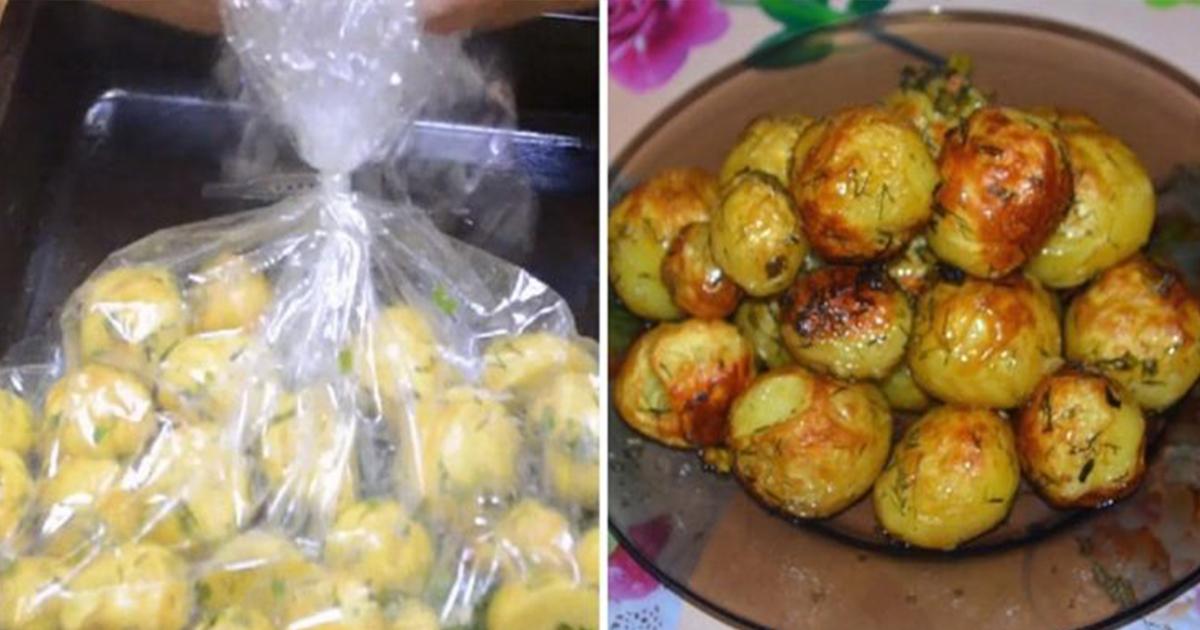 Cum se prepară cartofii noi la pungă, o rețetă delicioasă care te scapă de orice problemă