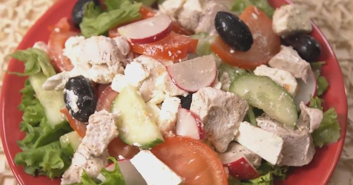 Salată de pui cu telemea