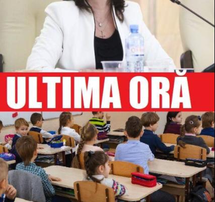 ULTIMA ORA! Anunt oficial de la ministrul Educatiei despre examene si ingheţarea anului şcolar: