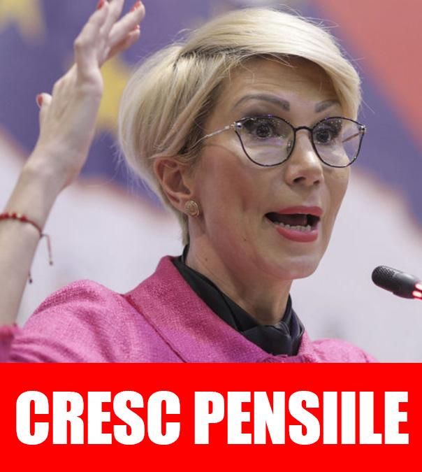 Vești bune pentru români! Pensiile care CRESC MASIV! Anunțul Ralucăi Turcan: